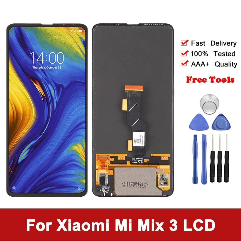 AAA 6.39 ''Amoled شاشة ل شاومي Mi Mix 3 الأصلي LCD عرض محول الأرقام شاشة تعمل باللمس استبدال ل Mi MiX 3 M1810E5A LCD