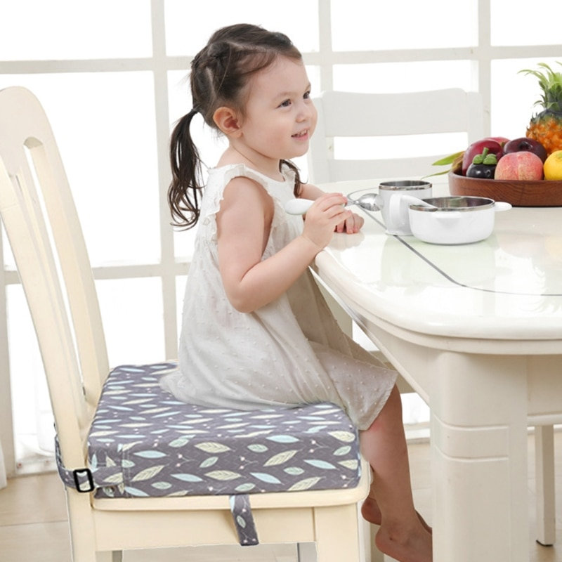 Square Booster Seat Highchair Pad Dining Chair Washable Thick Increasing Cushion 40JC