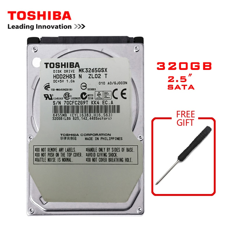 "TOSHIBA  Brand 320GB 2.5"" SATA2 Laptop Notebook Internal 320G HDD Hard Disk Drive 160MB/s 2/8mb 5400-7200RPM disco duro interno"