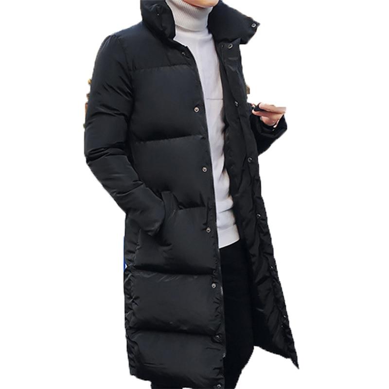 Новинка, зимние мужские куртки, толстые парки с подкладкой, мужские длинные парки для ограниченного времени
