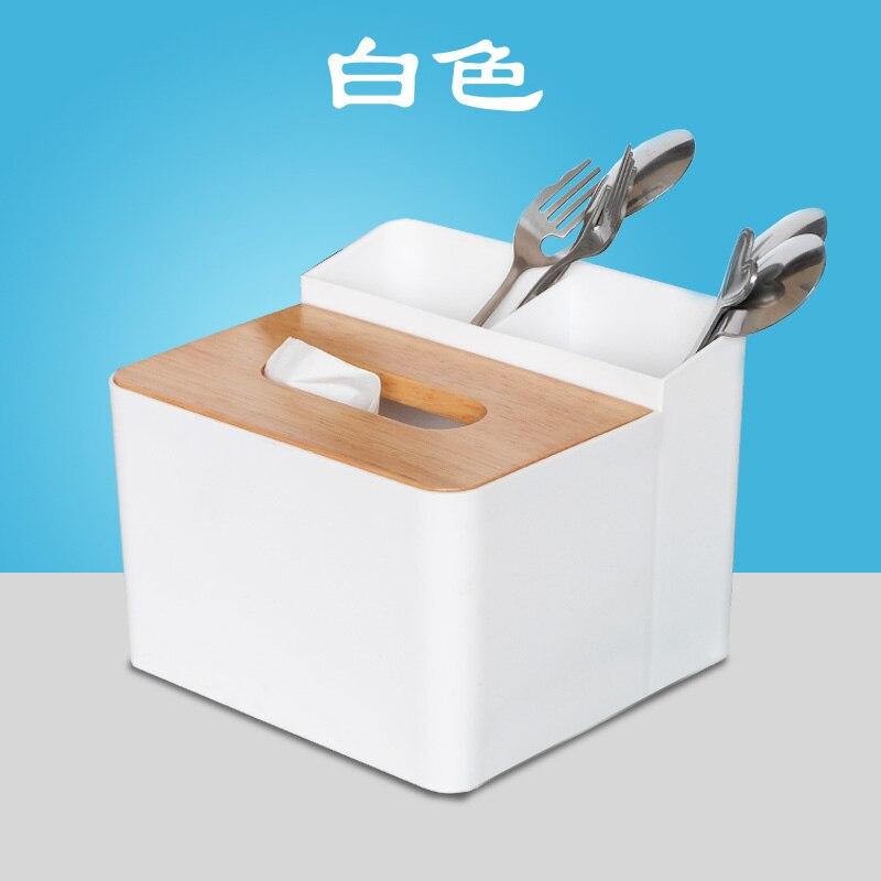 Palillos de la caja de almacenamiento de escritorio tubo tienda de té pajita bebida creativa restaurante cuchara vajilla caja de pañuelos personalizada