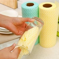 50 pieces of lazy daily necessities scouring pad rolls disposable cloth towels kitchen cleaning tools dish towel and table