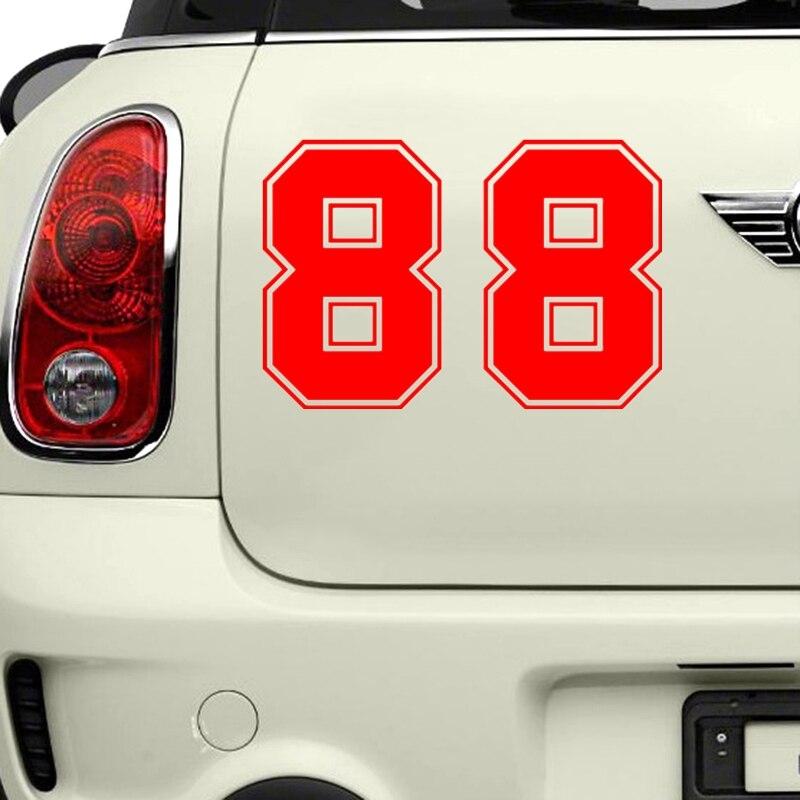 Купить с кэшбэком 15cmx10xm Funny number 88 Vinyl Car stickers Decals Motorcycle Accessories Car-Window Decorative Goods PVC