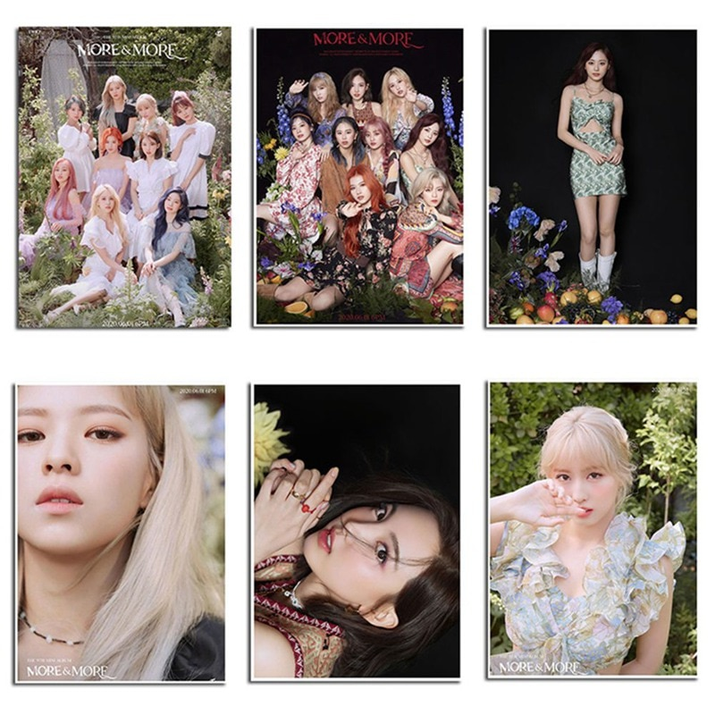 2 unids/set Kpop dos veces nuevo álbum más y más póster adhesivo pintura para la colección de Fans papelería regalo