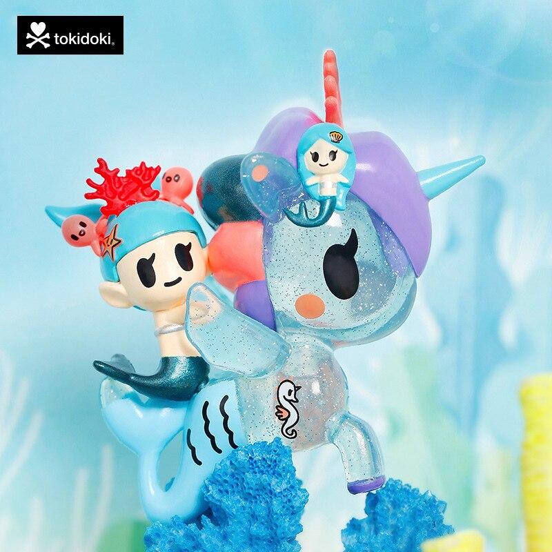 Unicornio sirena caja ciega Tokidoki sirena serie familiar 4 muñeca de caja ciega juguete de acción niñas regalos recoger niños envío gratis