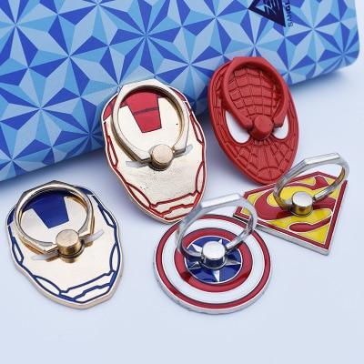 UVR personaje de dibujos animados Iron Man Spider-Man Superman soporte para teléfono móvil soporte de pie dedo teléfono móvil anillo sujetador
