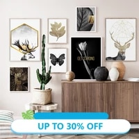 Peinture sur toile avec tete de cerf  papillon  tulipe  tableau dart mural pour decoration de salon  decoration de maison