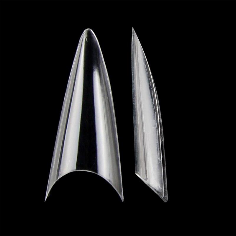 500pcs Half Cover False Nails Stiletto Japanese Style Short Sharp End Fake Nail Artificial Nail Art Tips Salon DIY NDK-BT-P37