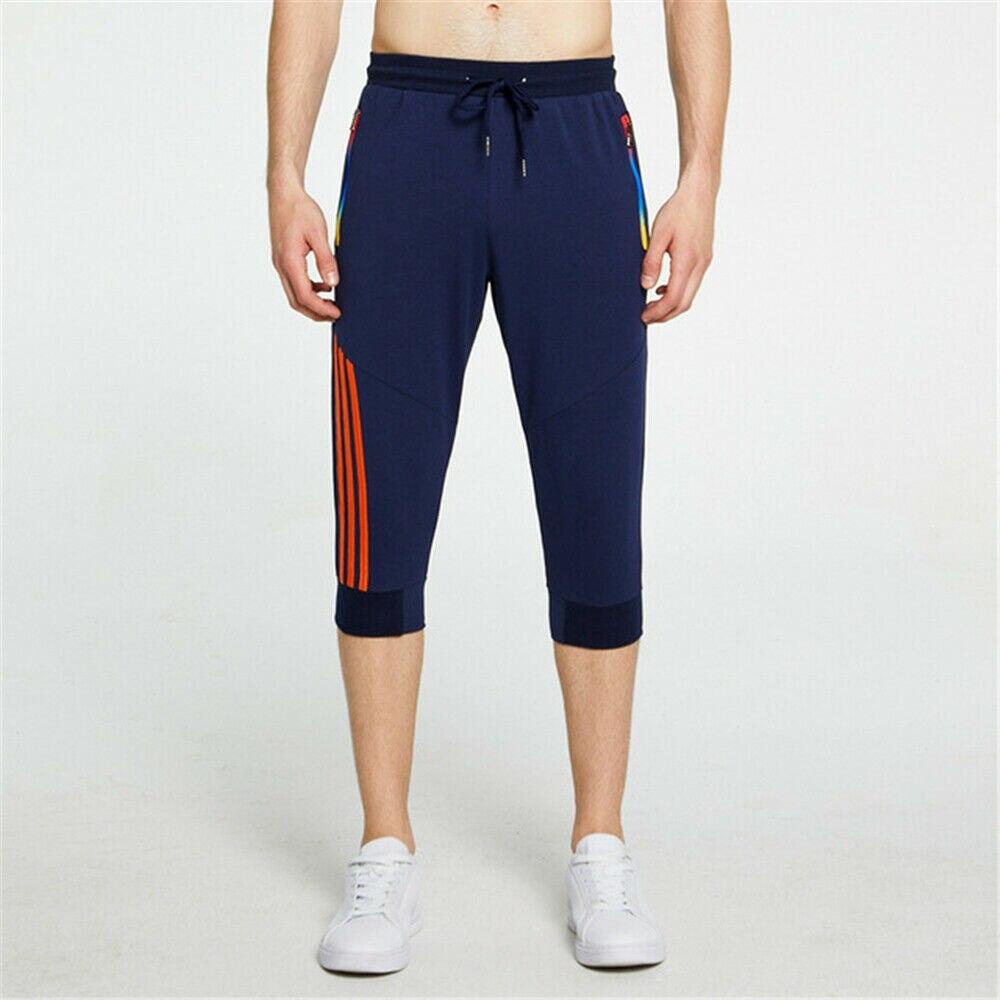Мужские повседневные укороченные штаны для бега спортивные штаны для тренировок спортивные штаны 3/4