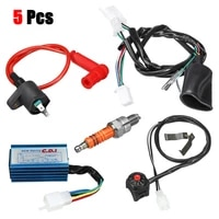 5x wiring harness switch coil cdi kit 50110125150cc pit dirt bike motorcycle atv plasticmetal wiring harness switch coil cdi