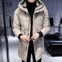 mens parkas plus size 5xl thick cargo coat 2021 new hooded cold jacket winter warm down jacket men casual windbreakers outerwear