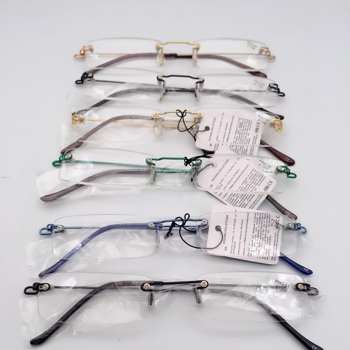Очки для чтения без оправы мужчин и женщин ультралегкие очки диоптрий + 150 175 200 225