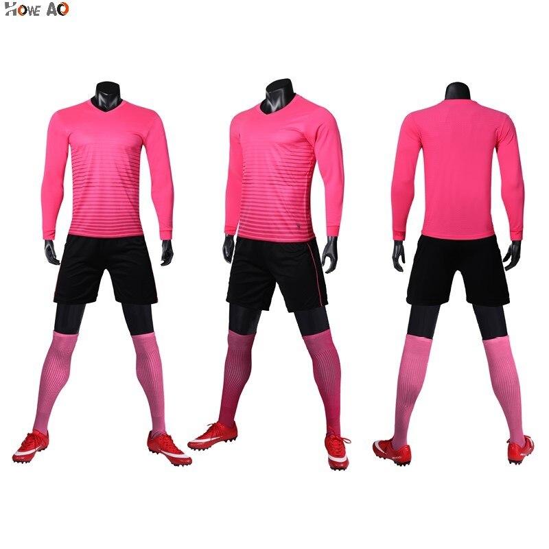 HOWE AO jersey de fútbol de manga larga para adultos traje deportivo de poliéster 100% se puede personalizar ropa deportiva de fútbol de gran tamaño