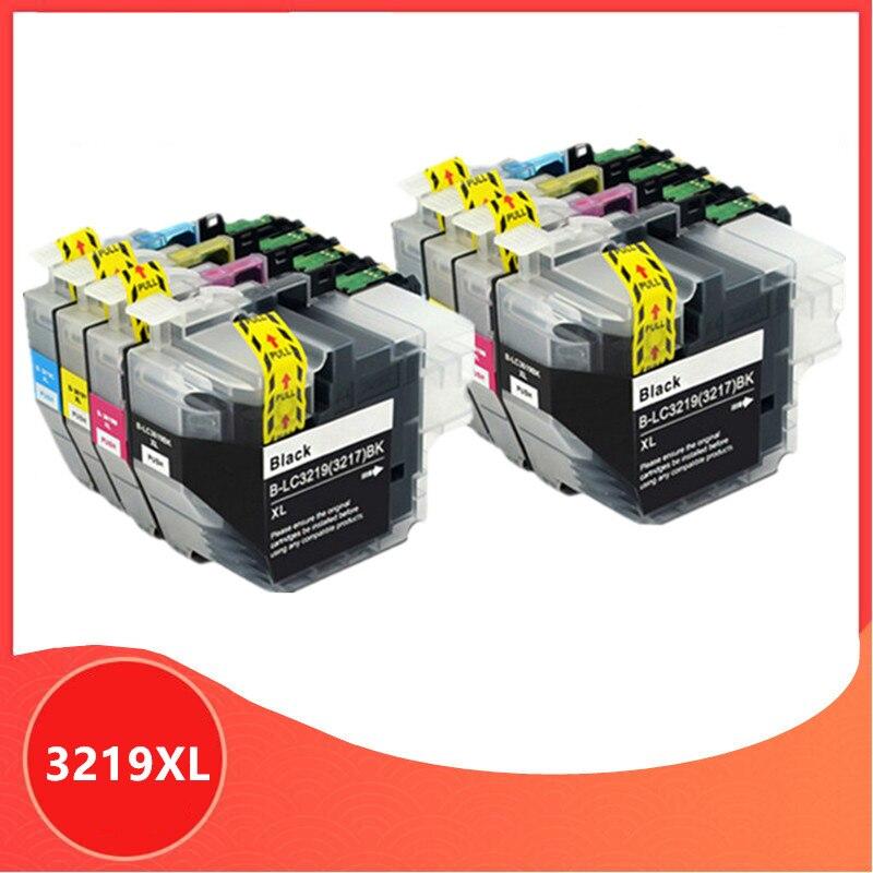 8 قطعة LC3219 LC3219XL كامل خرطوشة حبر لأخيه MFC-J5330DW J5335DW J5730DW J5930DW J6530DW J6935DW طابعة lc3217