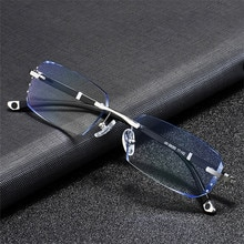 Vazrobe Rimless Myopia Glasses Install Optic Lens -0.75 -1.00 -1.50 to -5.00 Finished Eyewear with P
