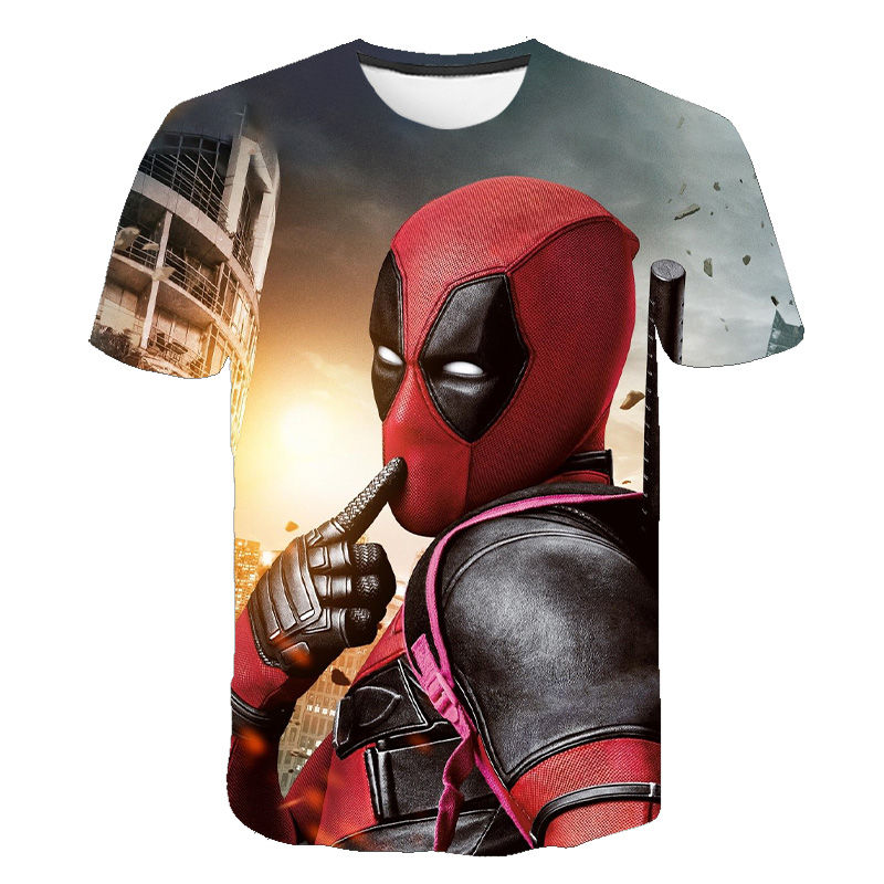 2020 New Deadpool T Shirt Marvel Avengers Endgame 3D Printed T-Shirt Short Sleeve Harajuku Tops Streetwear Children Boy Girl Tee