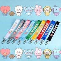 jcbtshbaby series 9 color name bar cartoon cute pendant keychain phone lanyard doll school bag streamer lanyard