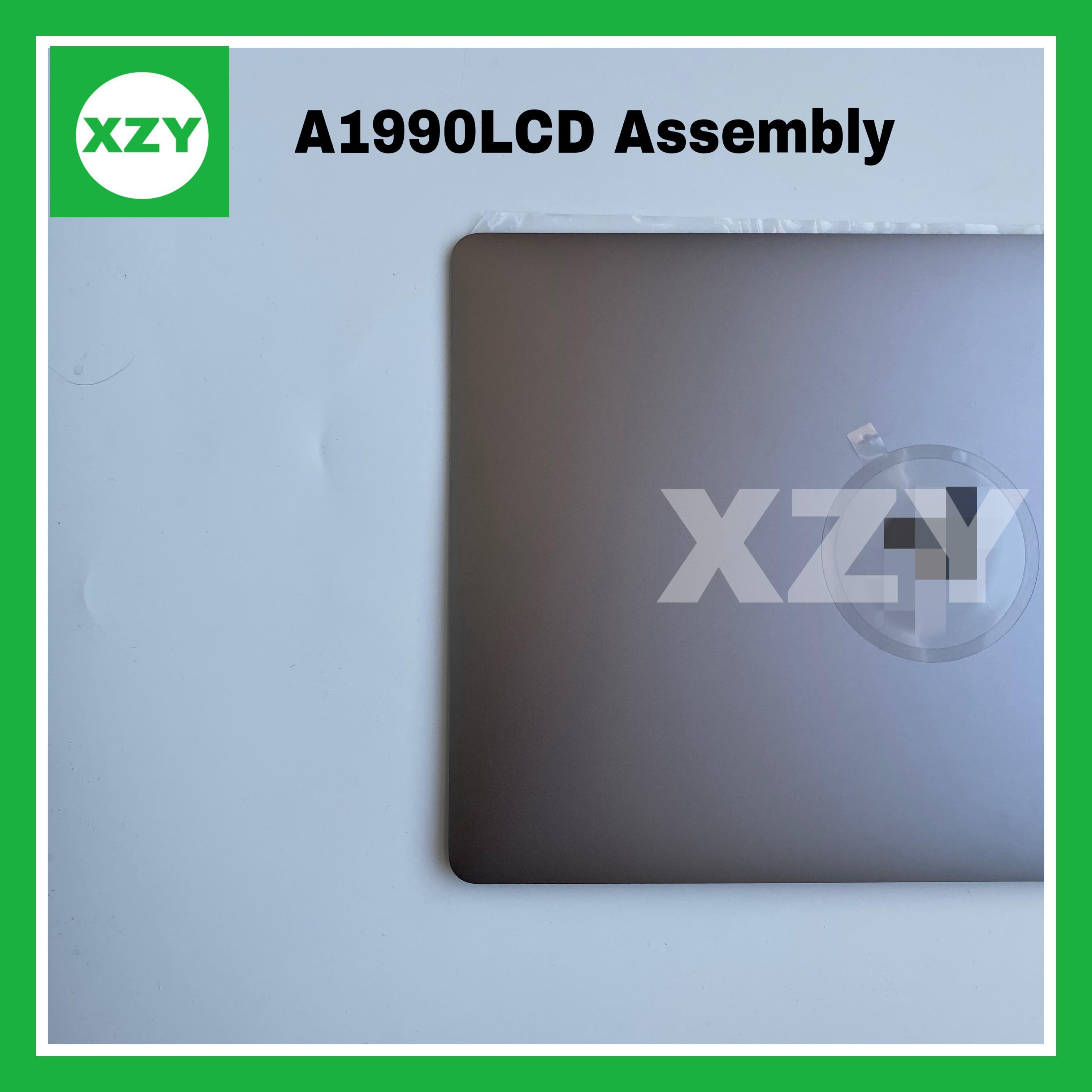 "Original novo a1990 assembléia tela lcd completo para macbook pro 15 ""a1990 meados de 2018 ano completo display lcd assembléia prata cinza"