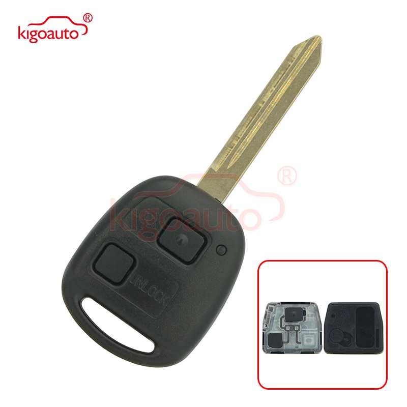 Denso(not Valeo) Kigoauto Remote key 2 button 434mhz with 4D70 chip TOY47 blade for Toyota yaris 2004-2009