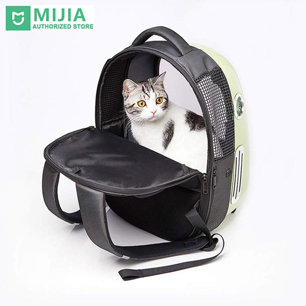 Mochila de viaje para gatos Xiaomi mi PETKIT de verano 2020, mochila impermeable transpirable, bolsa de aire fresco, cápsula espacial para perros y gatos