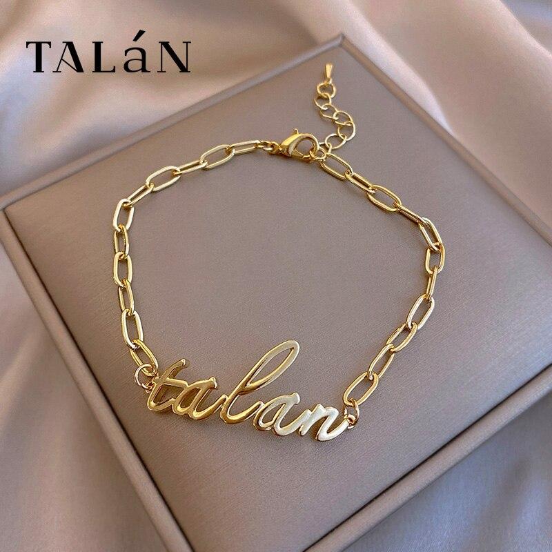 Talan Letters Fashion Bracelet Ins Special-Interest Design Simple Student Girlfriends Bracelet Korea