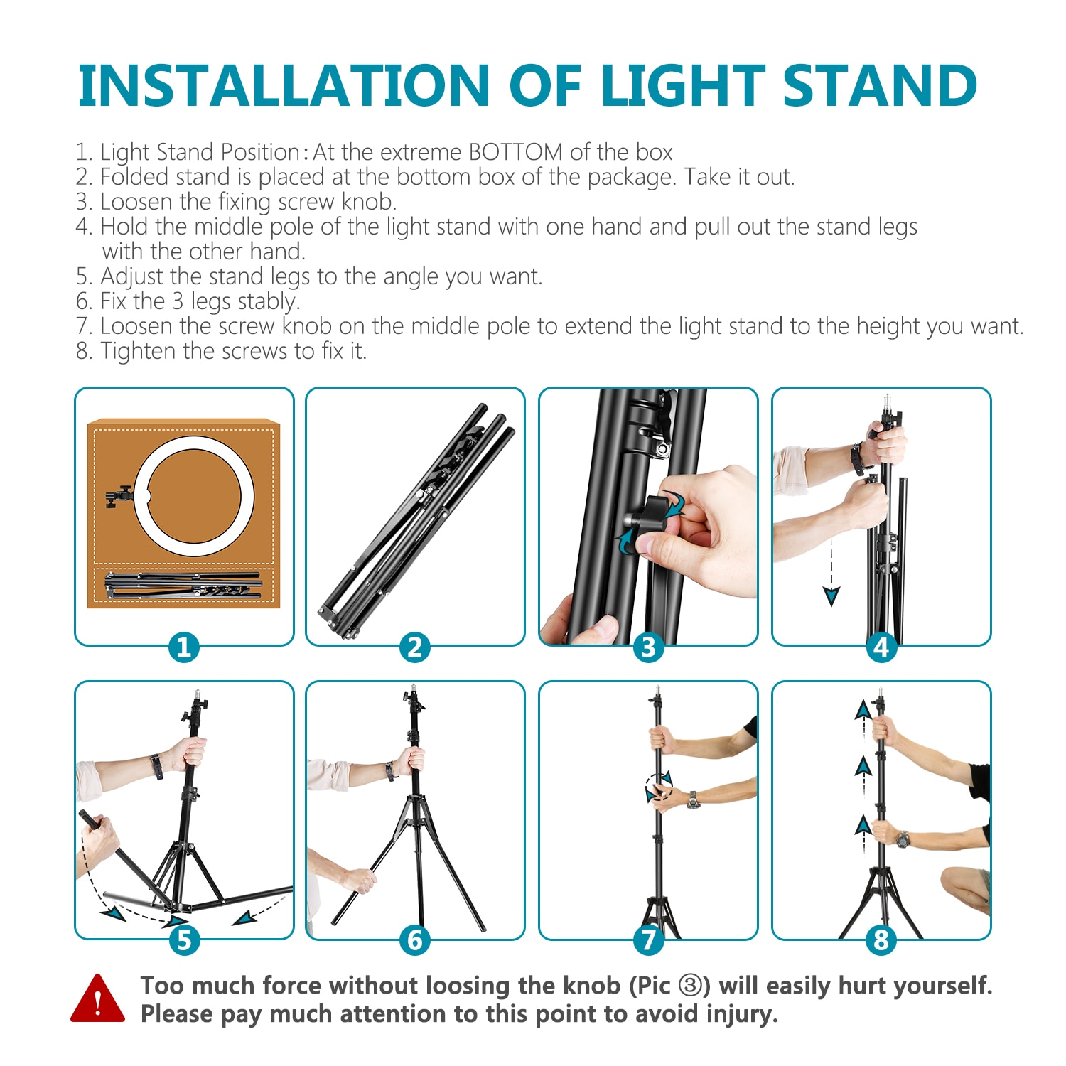 Neewer LED Ring Light 18 Inch Ring Lamp Photo light ring for YouTube makeup Studio photography ringlight with Light Stand enlarge