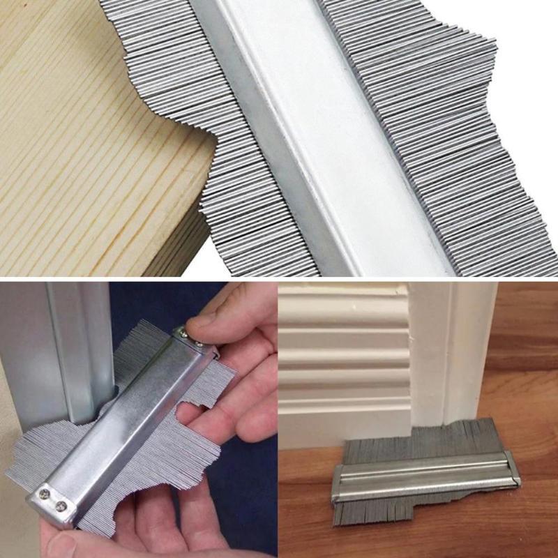 Stainless Steel Profile Copy Gauge Contour Gauge Duplicator Contour Template Tiling Skirting Laminate Ruler Wood Measuring Tools