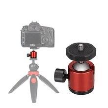TiYiViRi Mini tête à billes trépied de dessus de table adaptateur de support avec plaque de dégagement rapide pour Nikon Sony Canon DSLR caméscope