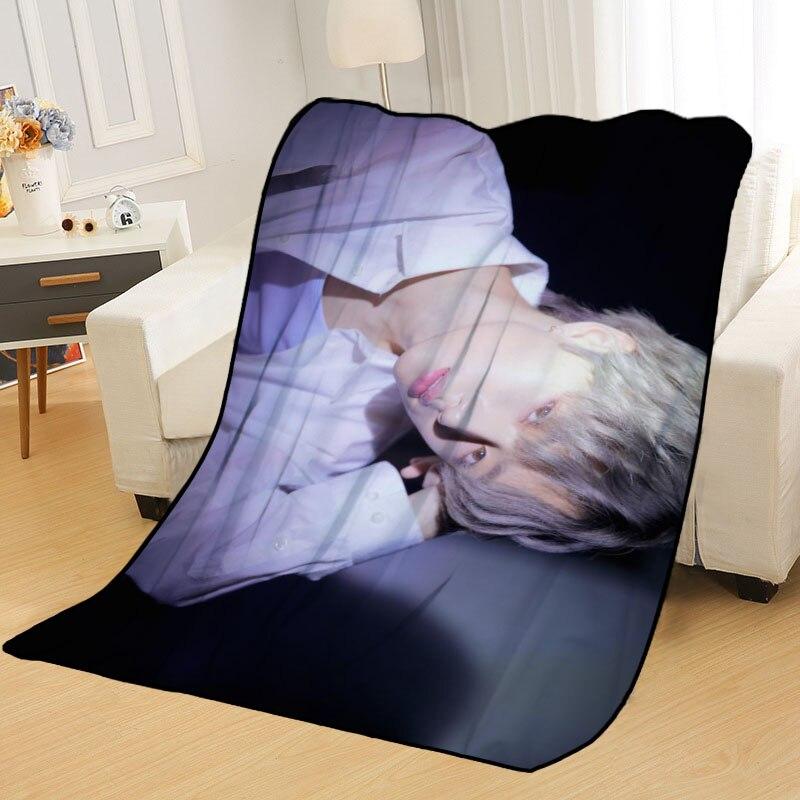 بطانيات شخصية مخصصة Beomgyu بطانيات للأسرة لينة لتقوم بها بنفسك صورتك الديكور غرفة نوم رمي بطّانية سفر