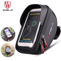 Wheel Up Cycling Phone Holder Waterproof 6.5in Mobile Cell Phone Mount Bracket Bike Handlebar Soporte Bicicleta Bicycle Bag Case