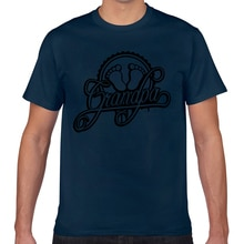 Tops T Shirt Men grandpa baby feet foot footprint stamp Design Black Short Male Tshirt