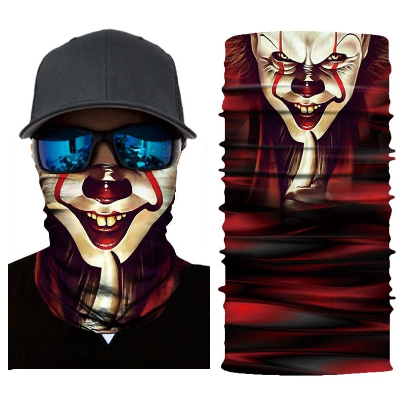 Máscara alienígena pasamontañas sin costura Joker al aire libre calavera bufanda mágica pesca deporte senderismo headwear Venom Anime Sudadera con capucha