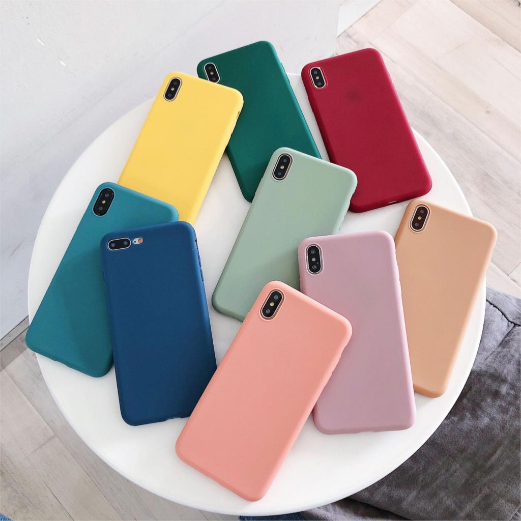 Матовый Силиконовый чехол ярких цветов для iPhone XR 11 Pro XS Max 6 6S 8 7 Plus 10, простые мягкие чехлы для iPhone X