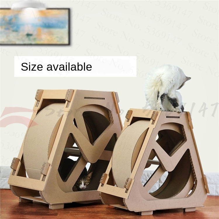 Cat Treadmill Roller Sport Pet Cat Supplies Corrugated Cat Scratch Board Ferris Wheel Cat Running Wheel Weight Loss Device Small