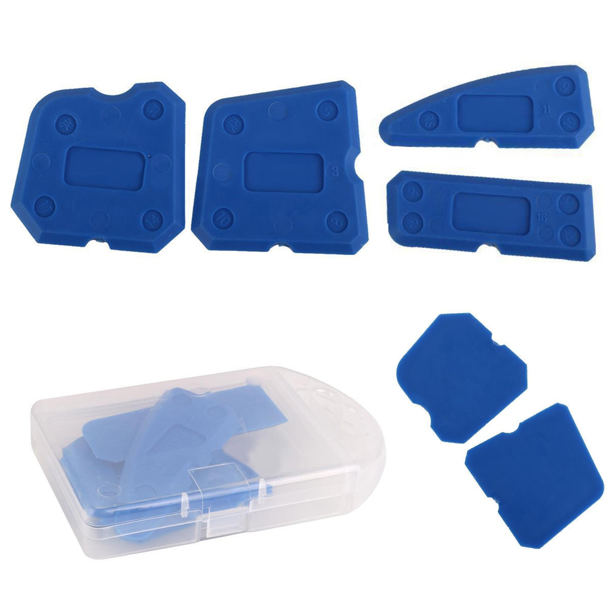 4 Uds sellador de silicona raspador espátula para ventana utensilio para quitar masilla o cemento Kit de herramientas calafateo removedor de acabado
