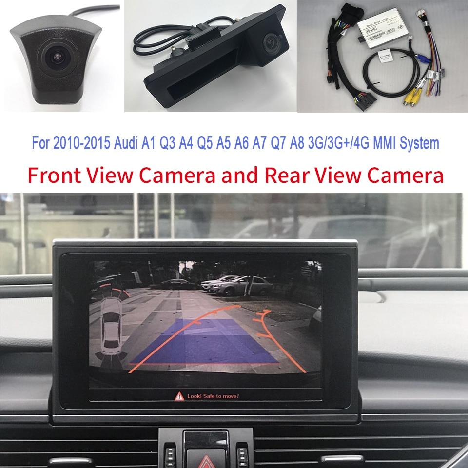 كاميرا خلفية أمامية وذكية InCar وصلة كاميرا عكسية لأودي MMI 3G/3G + A4 B8 2011 2012 2013 2014 2015 إرشادات وقوف السيارات