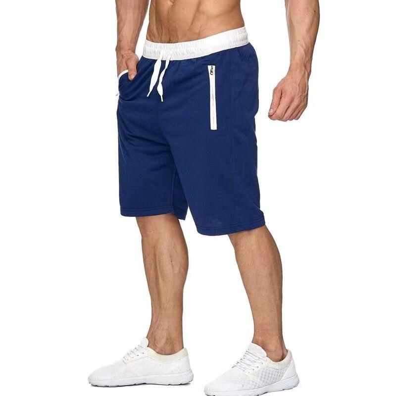 Мужские летние шорты, модные брендовые шорты для бега, фитнеса, тренажерного зала, мужские хлопковые повседневные пляжные спортивные шорты,...