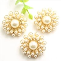 20 pcs high grade pearl metal decorative buttons peacock open screen hand sewn clothing accessories decorative buttons 25mm 30mm