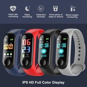 Fitness Bracelet Fitness Sport Bracelet WristBand M3 Smart Watch 0.96Inch Screen Blood Pressure Heart Rate Monitor