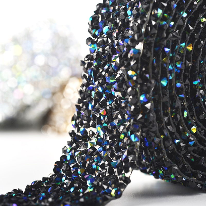 1 ярд стразы стразами кристалл исправление блеск платье стразами мотивы ленты утюг на патчи аппликация исправления 3 см