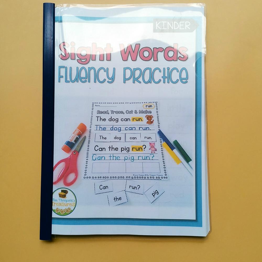 Crianças freqüentes palavras prática papel pré-escolar aprendizagem inglês livro de trabalho para colorir livros para crianças folhas de trabalho brinquedos