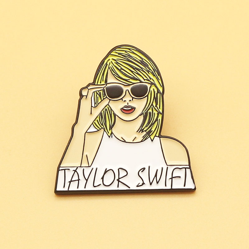 Swift Taylor brooch and songbird enamel pins Men and women fashion jewelry gifts anime movie novel l