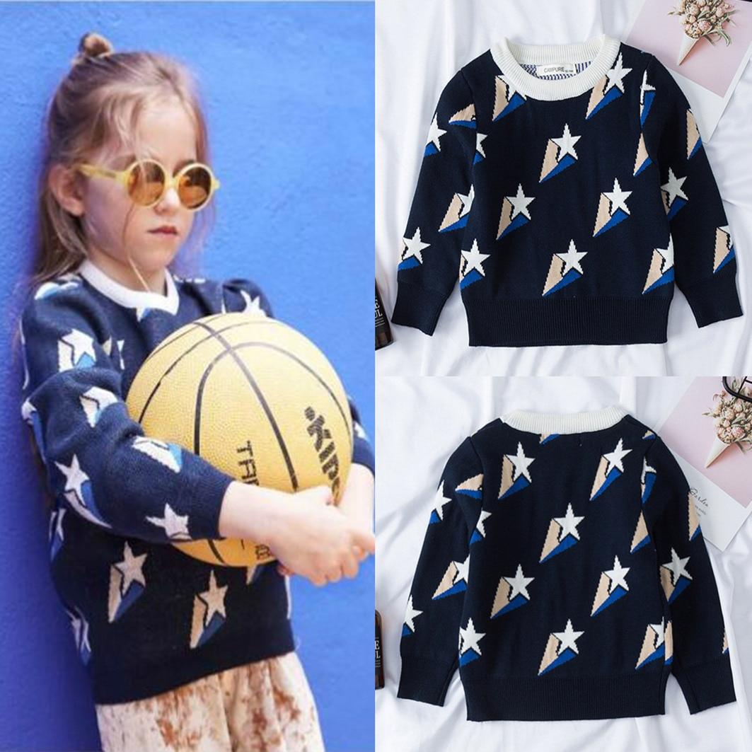 Осенние Семейные свитера; Модные пуловеры для мамы и дочки со звездами; Одежда для мамы и дочки; Семейные комплекты; Одежда для мамы и сына