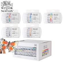 Winsor & Newton marqueur de Pigment de haute qualité ensemble de 6 couleurs pour les fournitures dartiste de conception de vêtement dartiste graphique professionnel