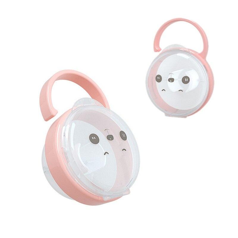 Chupete portátil para bebé soporte para pezón funda para niños de dibujos animados lindo pezón caja de almacenamiento para viaje soporte para contenedor maniquí