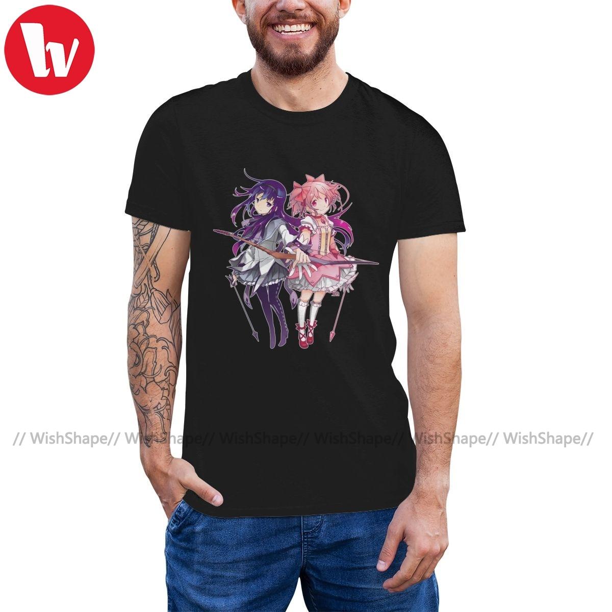 Camiseta Madoka Magica, camiseta Homura Madoka, camiseta grande para hombre, camiseta Casual de manga corta, camisa divertida
