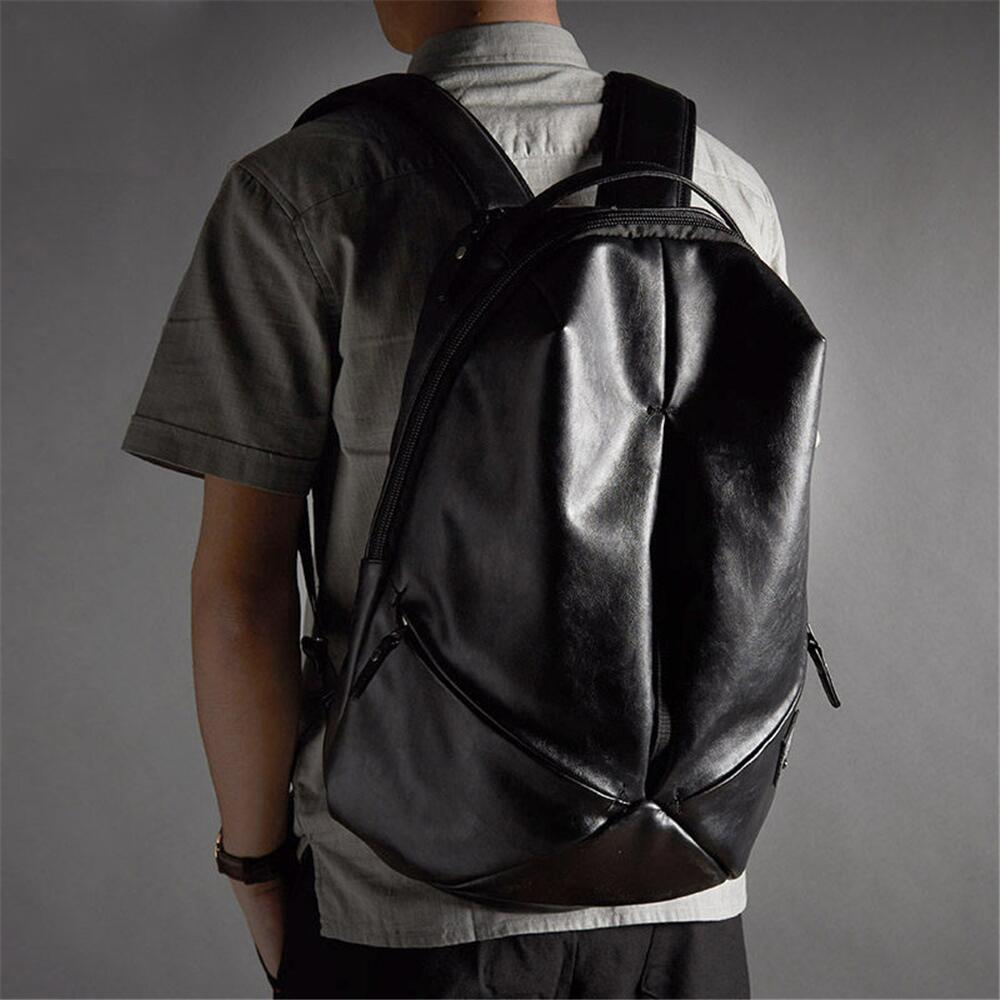 Mtong Classic Leather Backpack One Size Black Delicate waterproof, travel, backpacking Business, high quality, school youth