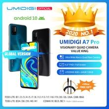 "UMIDIGI A7 Pro Quad Cámara Android 10 OS 6,3 ""FHD + Pantalla Completa 64GB/128GB ROM LPDDR4X Octa Core procesador versión Global teléfono"