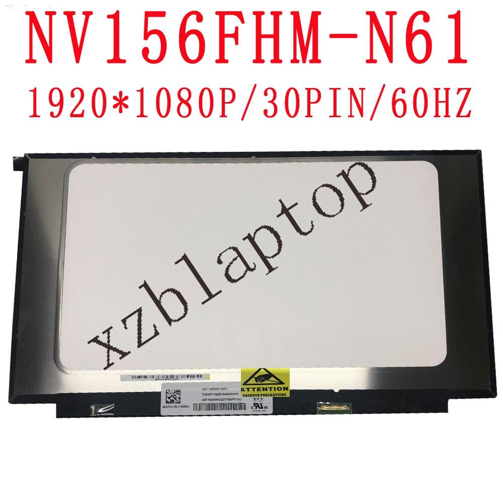 """NV156FHM-N61 V8.0 V8.1 72% NTSC, matriz de pantalla LCD de 15,6 """", 30 Pines, FHD, 1920X1080, repuesto mate para MARCO DE PANTALLA estrecha IPS"""