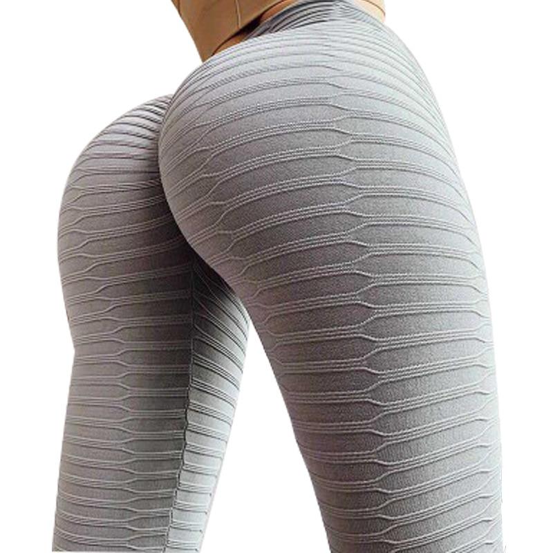High Waist Fitness Leggings Women Workout Push Up Legging Fashion Solid Color Bodybuilding Jeggings Women Pants A